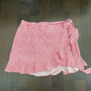 Pink summer wrap skirt